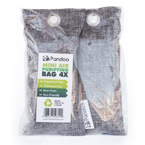 Bamboo Charcoal Air Purifying Bag 4 pack - 75g